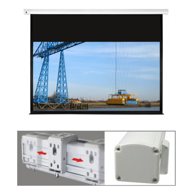 Roche 16:10 CHANNEL FIX Electric Projection Screens with 3 Year Warranty