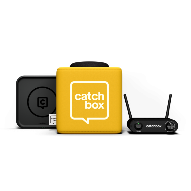 Catchbox Lite Throwable Microphone Bundle (Inc Wireless Charger)
