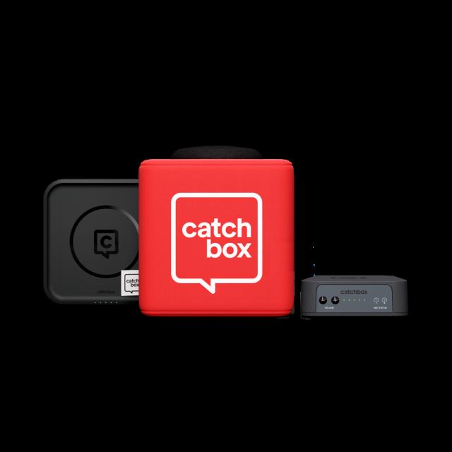 Catchbox Plus Throwable Microphone Bundles (Inc Wireless Charger)