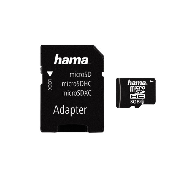 Hama 8GB microSD card with Adaptor (Class 10)