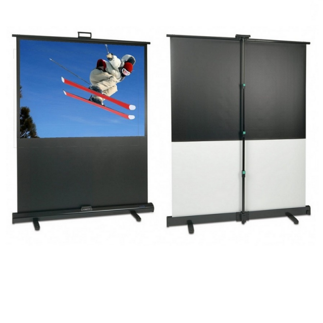 Roche 16:9 Professional Portable Floor Screens with Integrated Pole Support